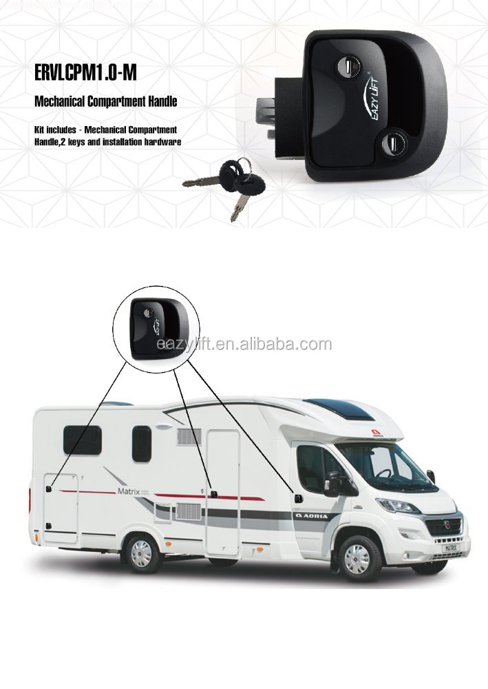 Quality mechanial motorhome lock
