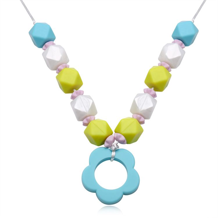 Baby Chew Jewelry Silicone Hot Teething Nursing Breastfeeding Beads Necklace