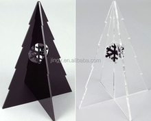 black and transparent acrylic snowing christmas tree