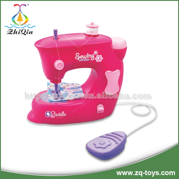 Beauty Colors Girl Mini Electric Sewing Machine Toy With Light And ...