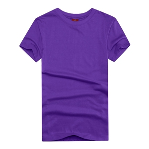 wholesale cheap price multi color 180g 100% cotton round neck solid color man's shirt for advertisement
