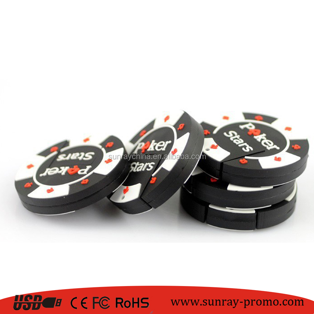 high speed 3.0 poker chip usb pendrive soft 2D pvc usb flash drive with oem logo