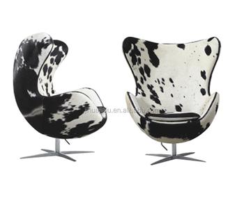 Replica Arne Jacobsen Egg Chairs Cow Hide