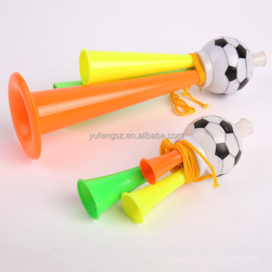 Promotional custom sports football fans plastic horn