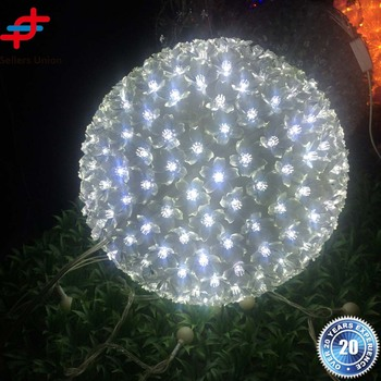 Large Outdoor Light Up Christmas Hanging Balls