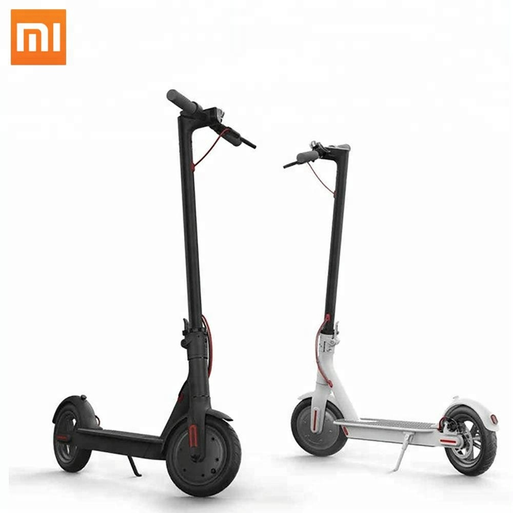 China wholesale price foldable Xiaomi 25 km/h 350w light weight easy rider electric scooter, Black/white