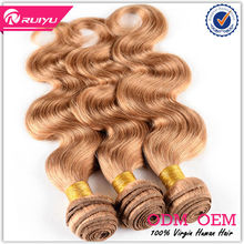 Professional hair wholesales high quality with competitive price light color hair weave 100 human