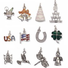 Wholesale zinc alloy fashion star pendant charm slide charms