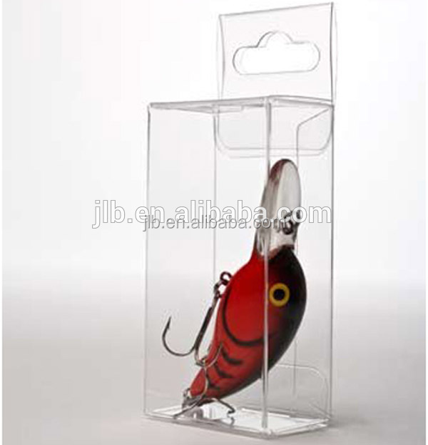 Clear PVC plastic fishing bait lure box packaging