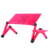 Hot ergonomic folding laptop stand lap desk computer table with fan