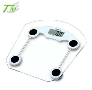 Big tempered safety glass human weight scale digital personal body scale