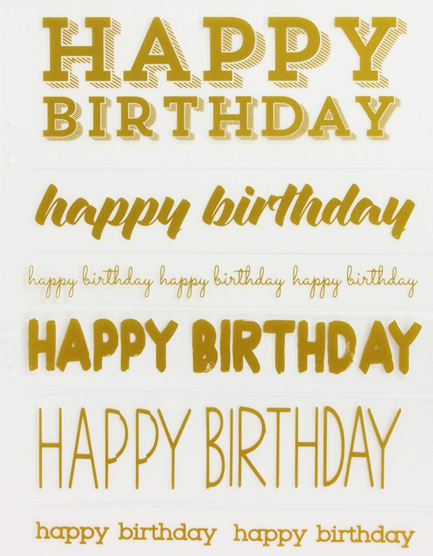 Little B 100647 Rub Ons, Happy Birthday
