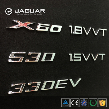 Exclusive product factory price custom car 3d chrome letters