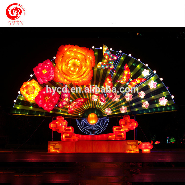 2017 Electric Chinese Lanterns town for Mid Autumn Festival New Year