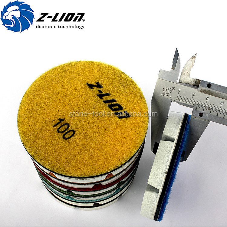 Hard concrete floor dry polishing diamond pad 3 inch resin polishing pad