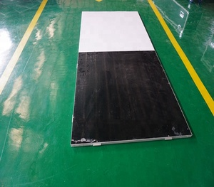 Cheap used laminate flooring dance floor with white and black color