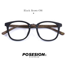 Posesion винтажные деревянные оправы для очков деревянные ретро мужской и женский оптический рецепт оправы очки с прозрачными линзами(Китай)
