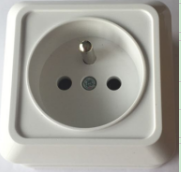 Electrical outlet wall socket eu standard surface mounted