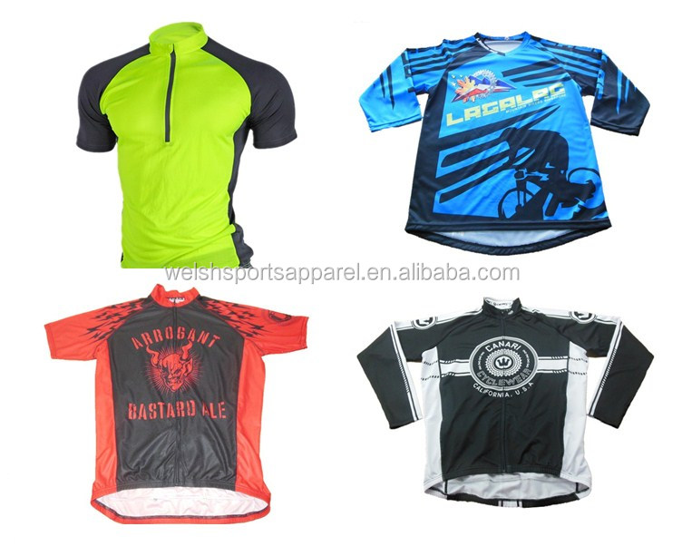 High vis custom logo blank reflective men cycling jersey