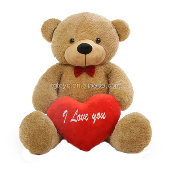 Valentine S Day Best Gift Big Plush Stuffed Red Heart And Red Bow