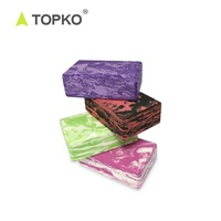 TOPKO new design high density EVA yoga block recycled eva foam yoga block