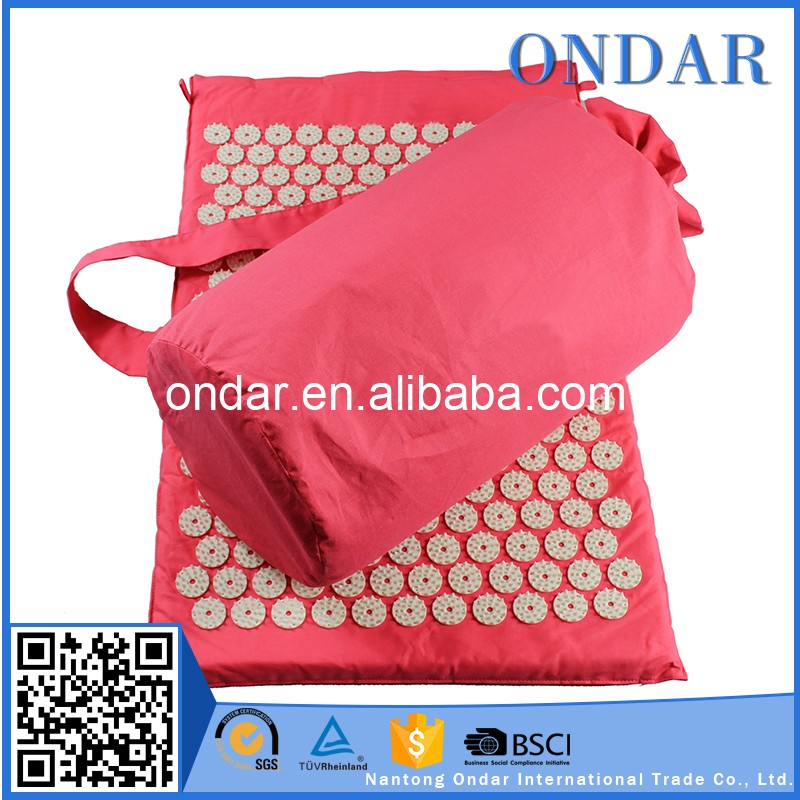Natural Rubber high quality acupressure mat and pillow with CE certificate