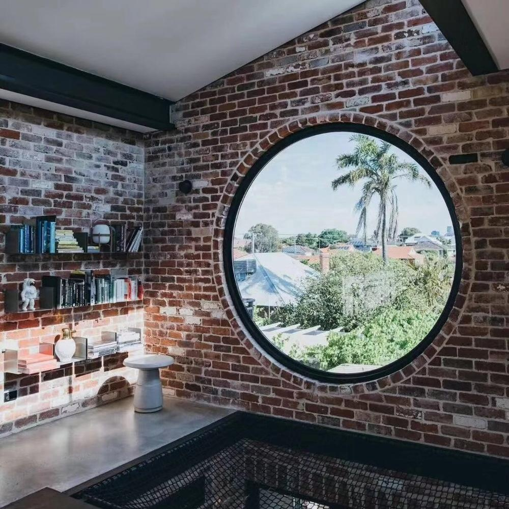 Impact resistance hurricane proof arch fixed round window