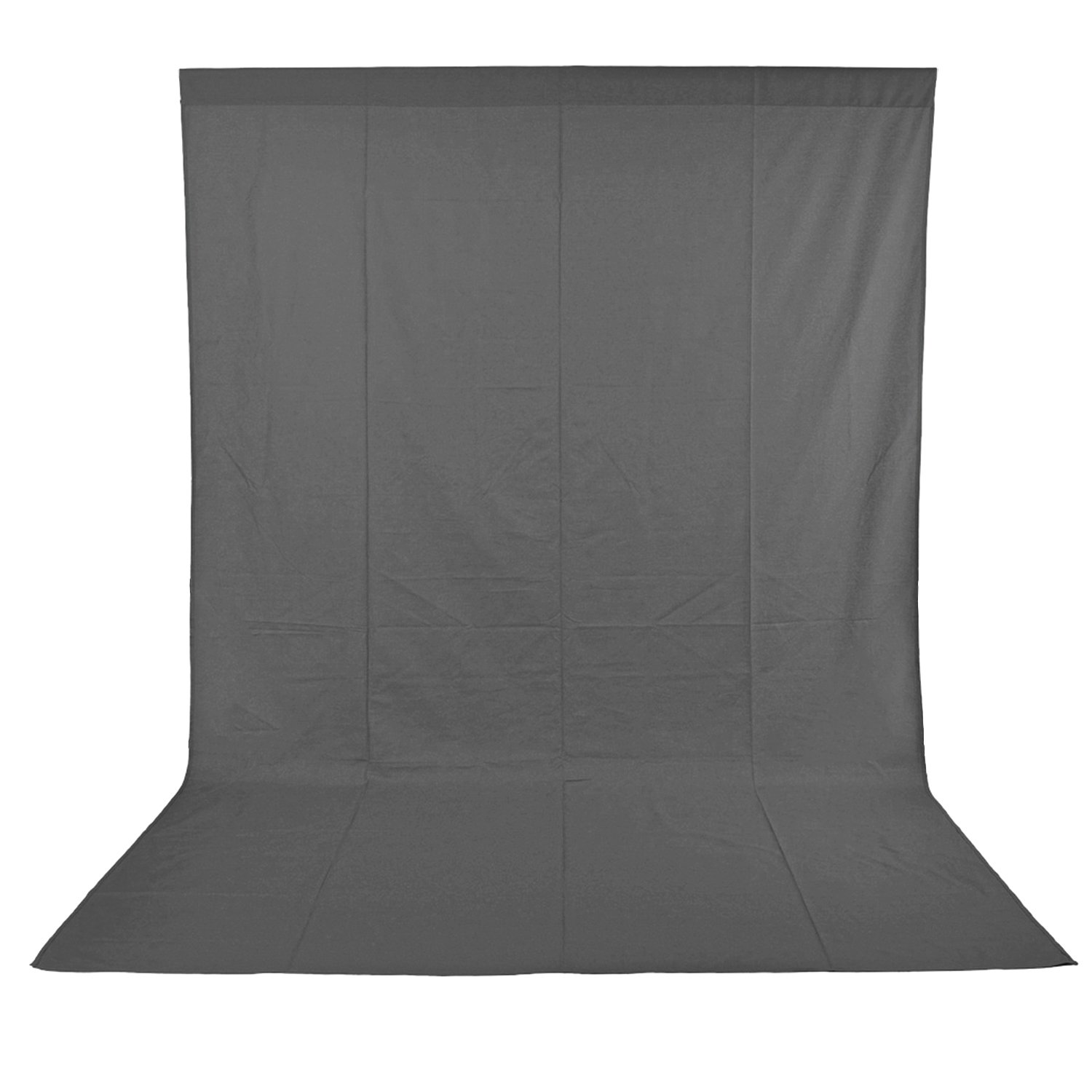 Neewer 10 x 12FT / 3 x 3.6M PRO Photo Studio 100% Pure Muslin Collapsible Backdrop Background for Photography,Video and Television (Background Only) - Grey