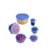 High quality food grade flexible reusable silicone stretch lids set 6 pack