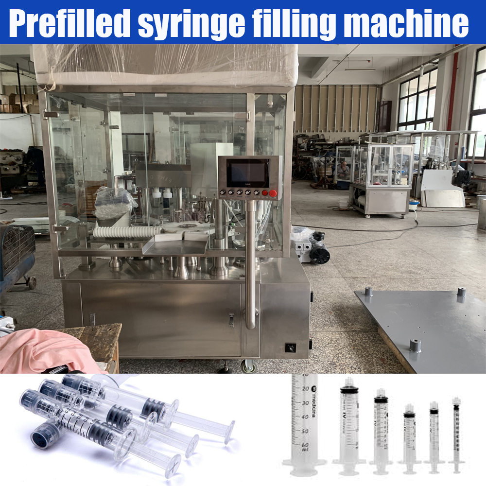 Automatic Pharmaceutical prefilled luer lock syringe filling machine gel medical liquid syringe filling sealing capping machine