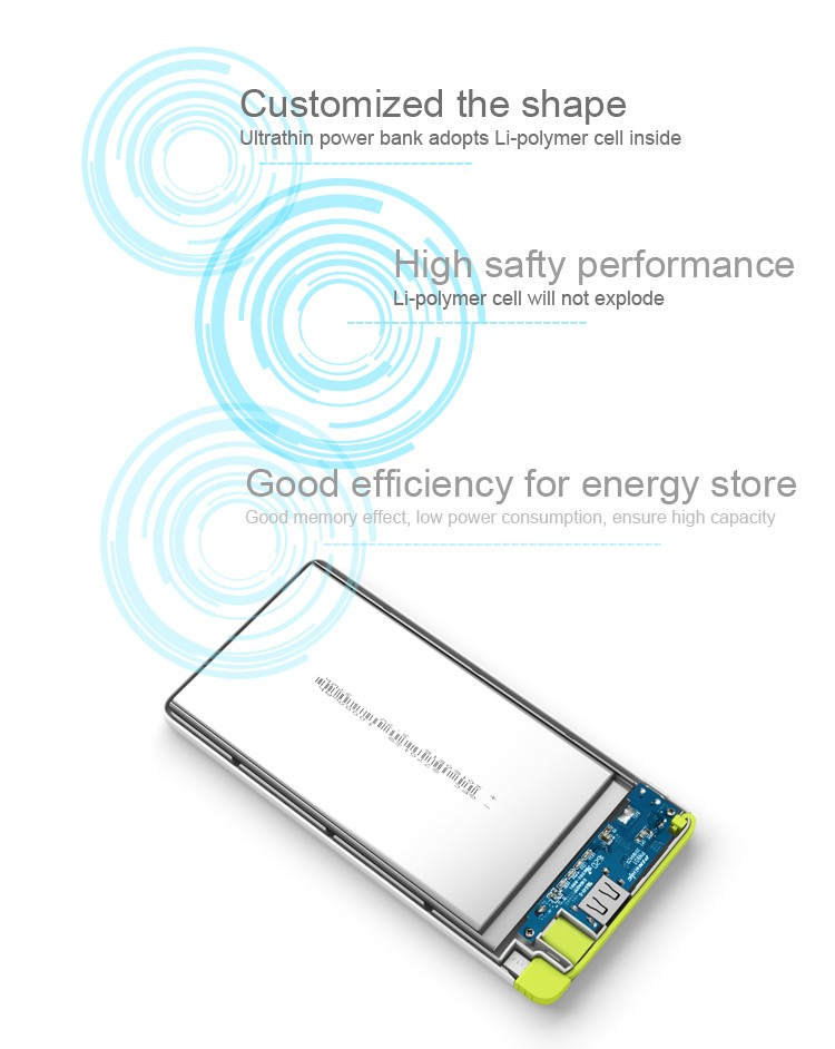 Newest Version Ultra-thin 10000mAh external battery charger power bank for cell phone