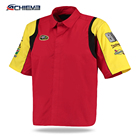 OEM Custom embroidery 100% sublimated pit crew racing shirts for men/Long-sleeved short-sleeved car racing suit