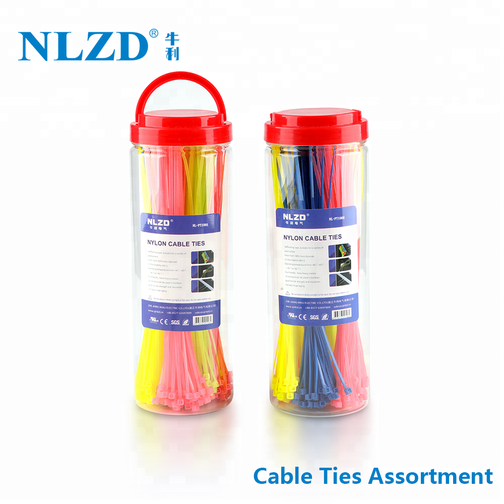 UL approved Selflocking nylon 66 cable ties plastic zip ties wire tie wraps
