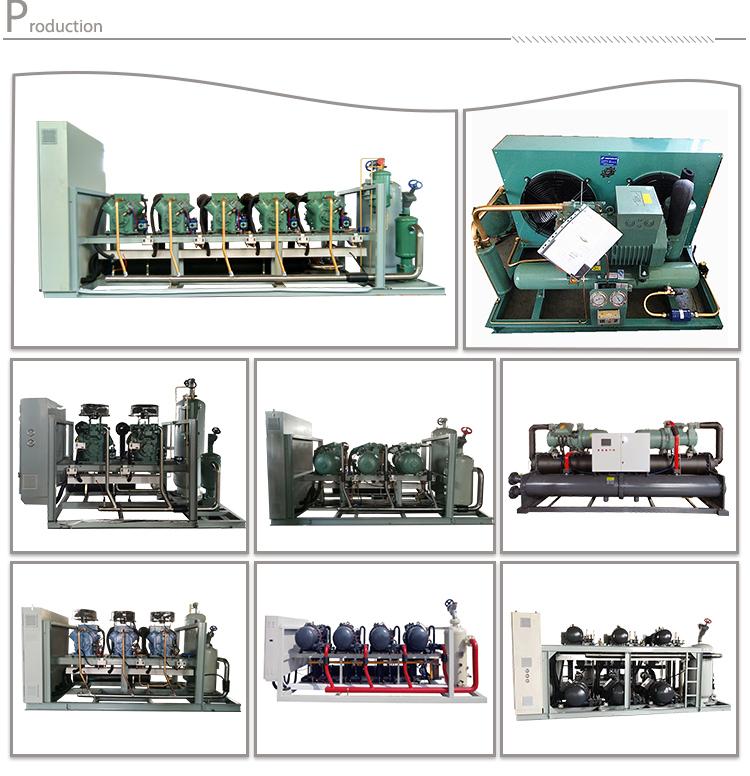 A bassa temperatura Unità di Condensazione Compressore A Pistoni Raffreddato Ad Acqua