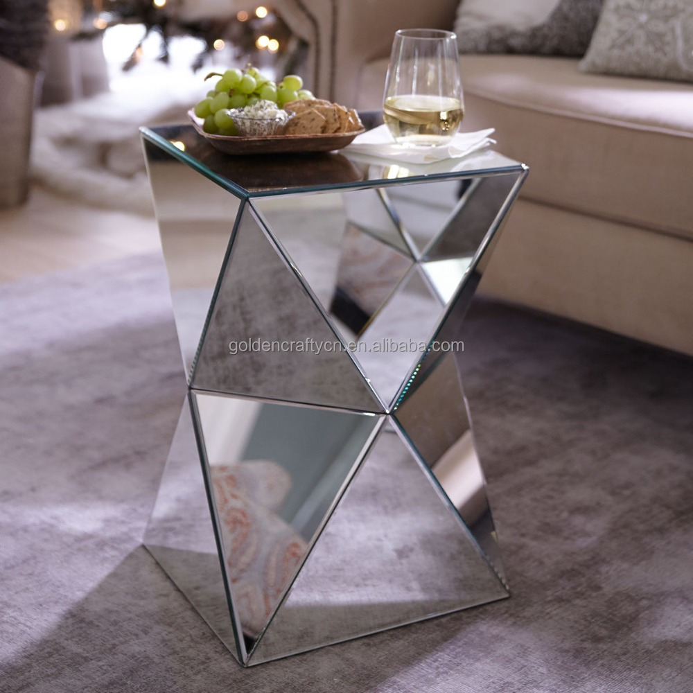 home decor venetian mirrored side table