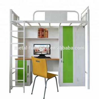 Cheap Metal Frame Bunk Bed Bedroom Furniture Dormitory Bunk Bed ...