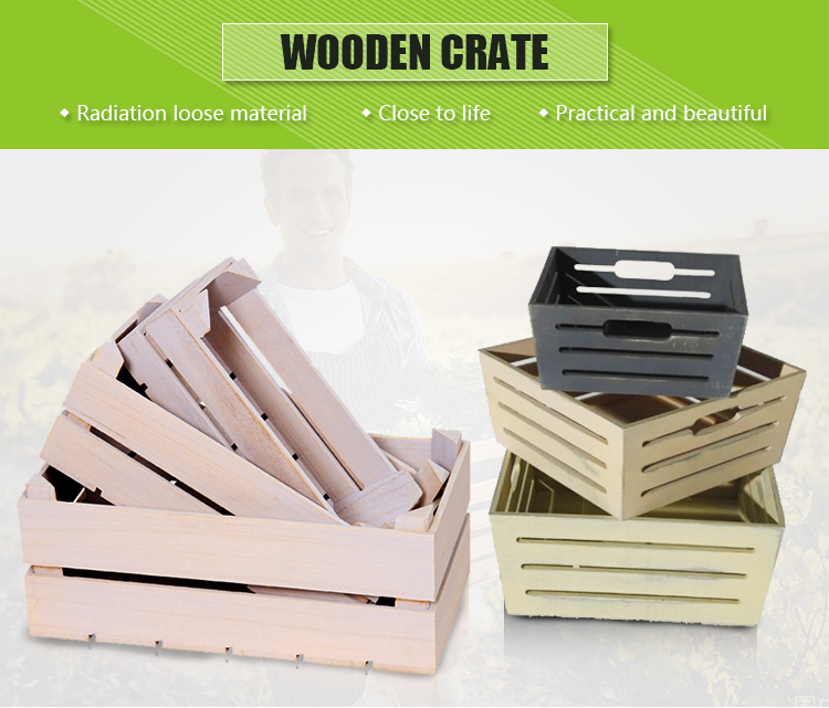 Chinese manufacturer wooden vegetable crates for sale