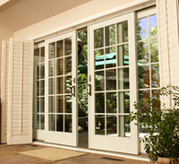 China special factory colorless glass best price pvc sliding door