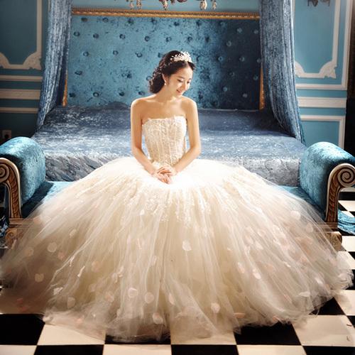 2017 Sweet Princess Straps Wedding Dress Tube Top Plus: 2015 Sweet Princess Straps Wedding Dress Tube Top Plus