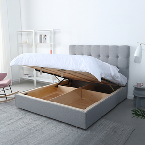 New style latest stylish luxury wood double bed designs comfortable durable soft bedroom furniture with storage function
