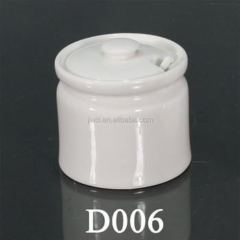 Ceramic Storage Jar Rubber Seal, Ceramic Jar With Wooden Lid