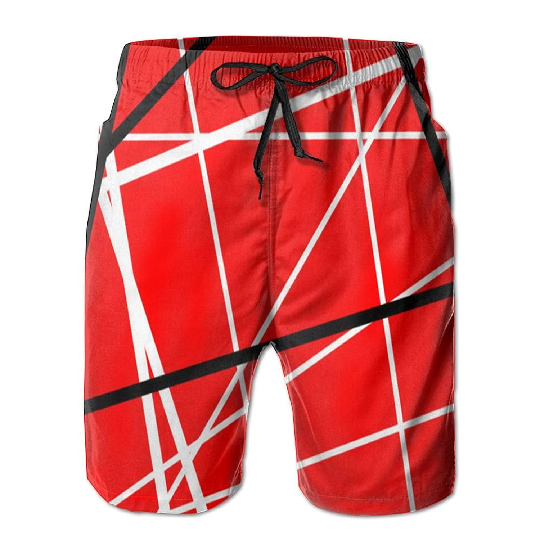 WANING MOON Mens Colored Dots Summer Beach Shorts Leisure Quick Dry Swimming Pants