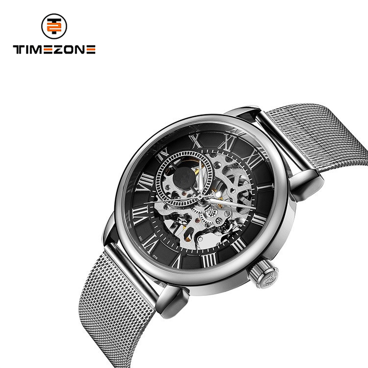 Hollow out manual mechanical men watch luxury top brand design your own watch