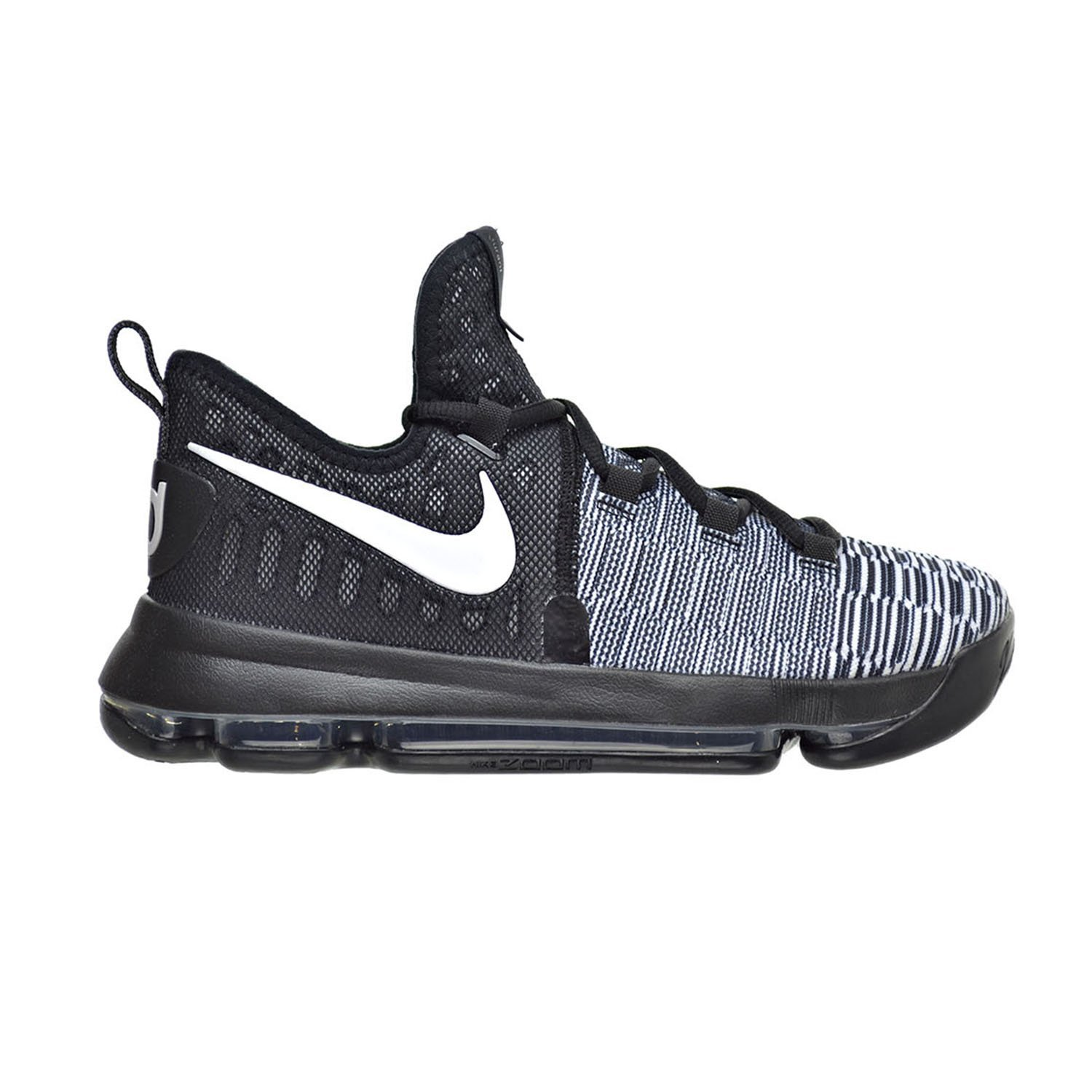 on sale 22475 7546e Get Quotations · Nike Zoom KD 9 (GS) Black White
