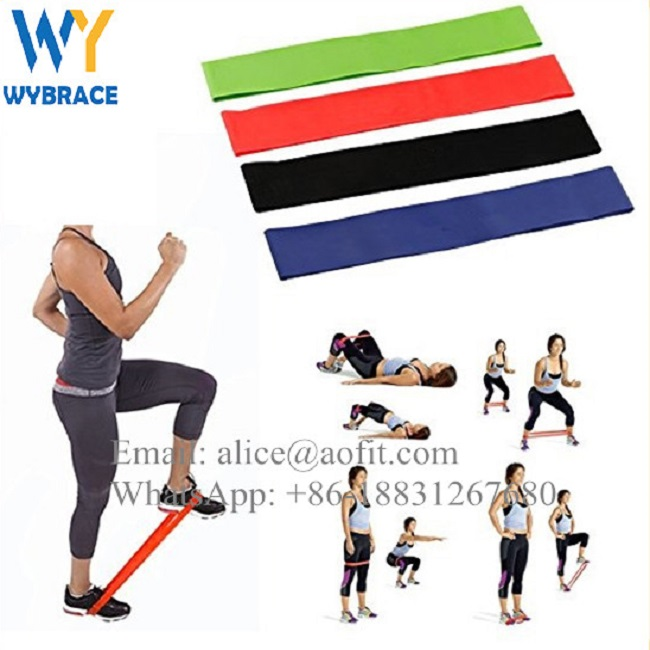WUYU Yoga Elastic Bands Custom Exercise Resistance Bands Logo Exercise Training
