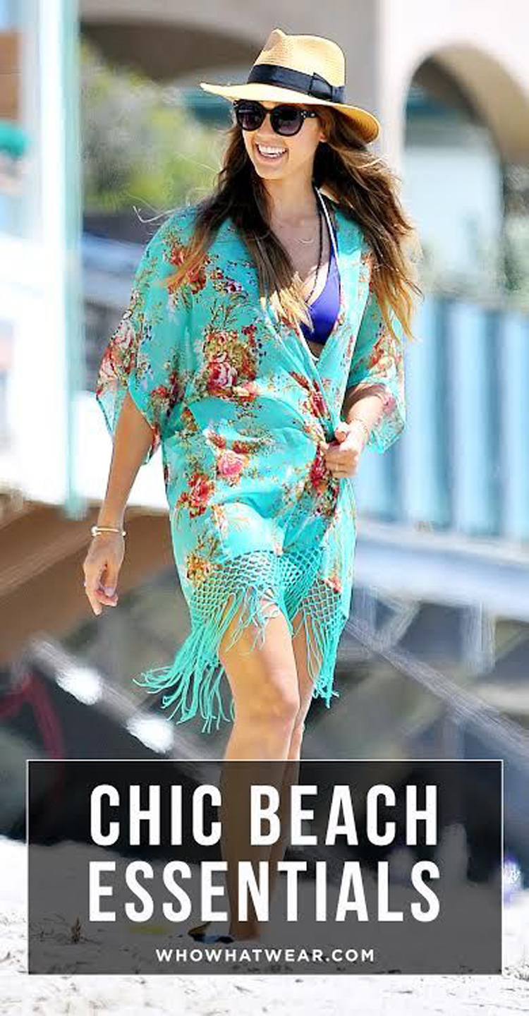 cb5750a19b 2019 Jessica Alba Celebrity Beach Cover Up Womens Fringe Floral Chiffon  Boho Swimming Suit Covers Beach Wear Sexy Swimsuit Cover Up From Wangleme0