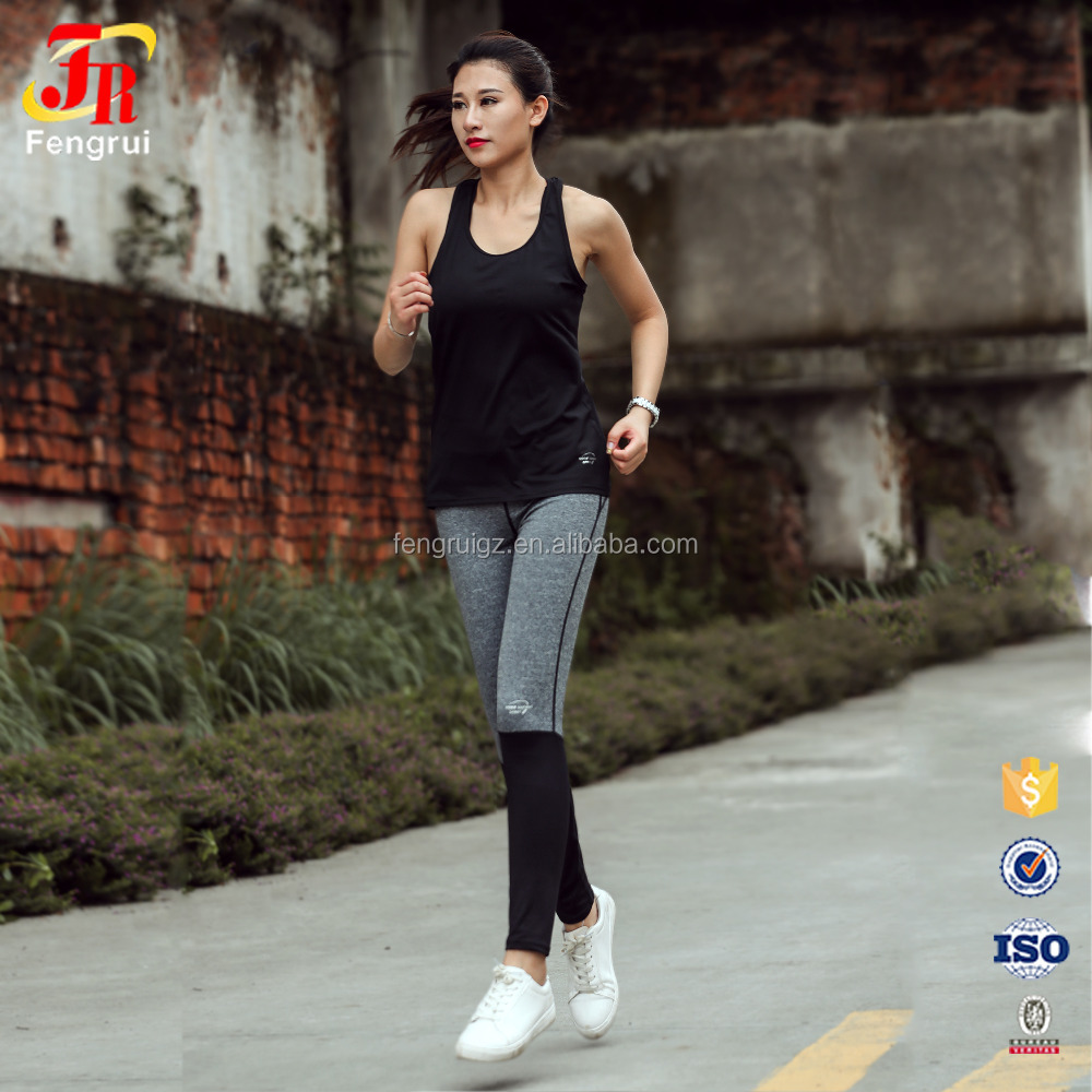 New Arrival Splice Sport Running Pants Fitness Women Slim Sexy Black Athleisure Training Legging Female Hot Jogging Gym Trouser