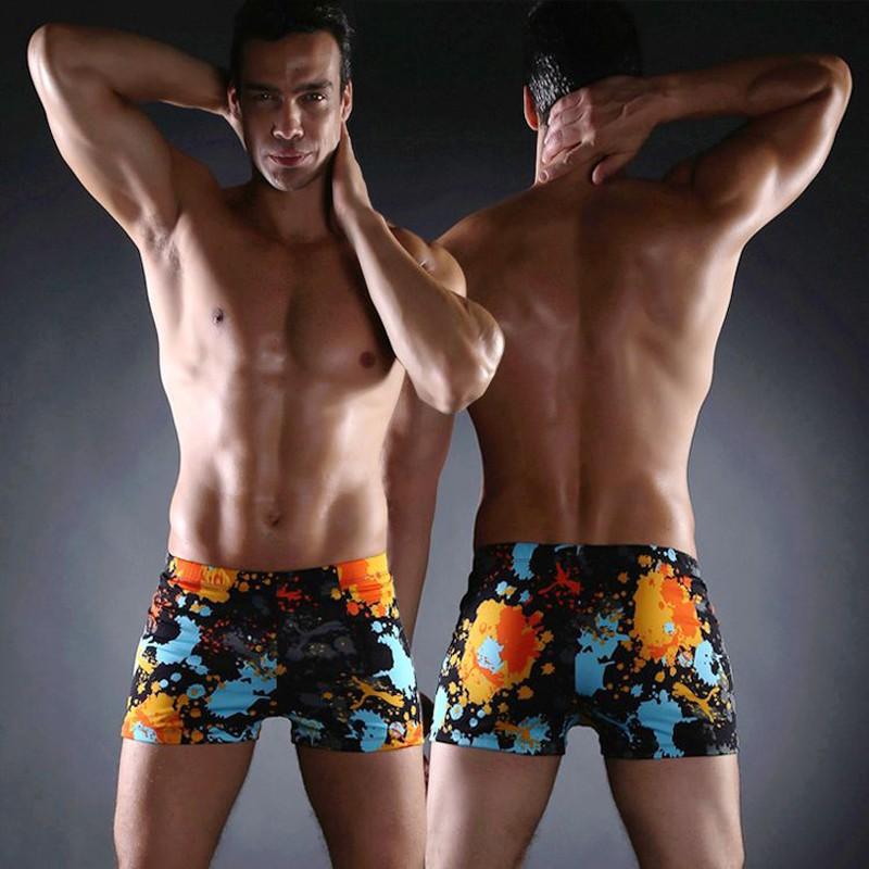 NEW Fashion Men/'s Swimming Board Shorts Swimming Underwear Translucent Trunks