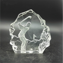 Mountain Shape / Inside 3D Laser Engraving Crystal Glass Iceberg/ Model