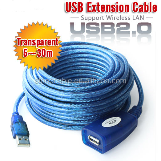 USB 2.0 Type A to A Extension Cable M/F 16ft 33ft 100ft